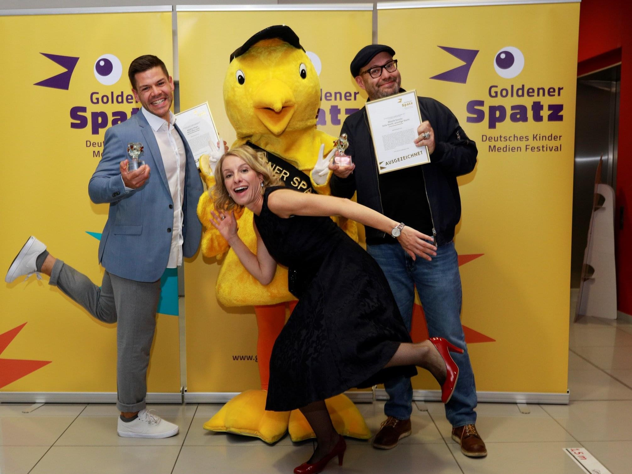 """Klein aber fein … """"Goldener Spatz"""" für Woozle Goozle!"""